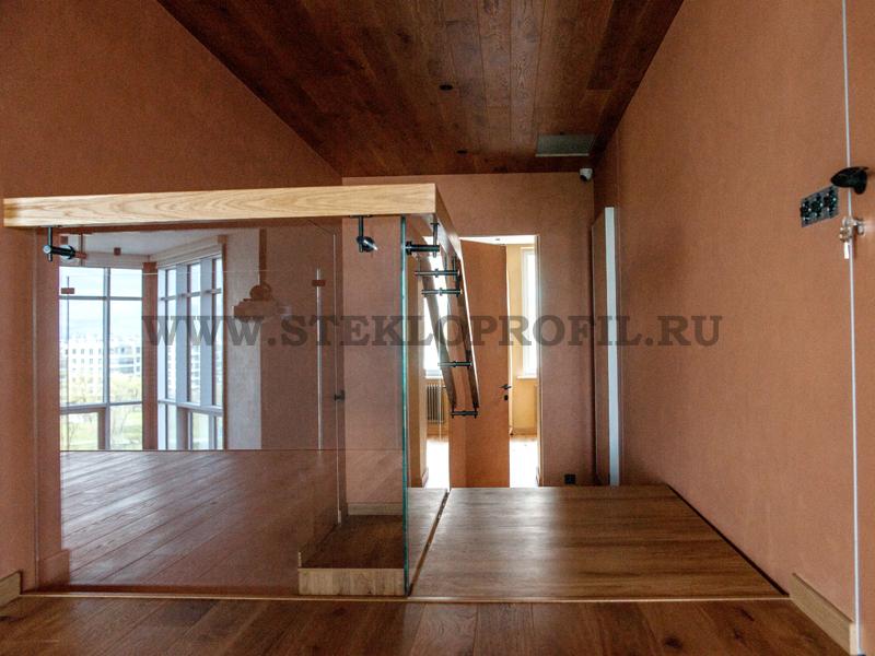 Ограждение лестницы в квартире